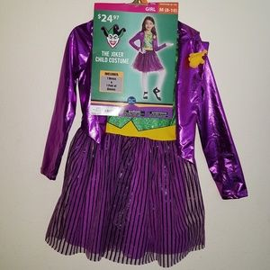 NEW Joker Girl Halloween Costume Girls Medium 8-10